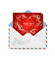 Heart and mail Valentines day card vector image vector image
