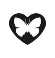 heart black icon love symbol orange vector image vector image