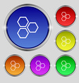 Honeycomb icon sign Round symbol on bright vector image vector image