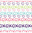 hugs and kisses seamless pattern background vector image vector image