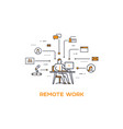 icon business 04 remote work and vector image vector image