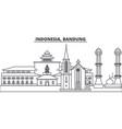 indonesia bandung line skyline vector image