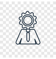 intelligence concept linear icon isolated on vector image