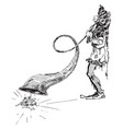 jester hearing horn vintage vector image vector image