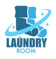 laundry room isolated icon socks clothes washing vector image vector image