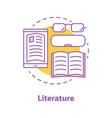 literature concept icon vector image