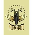 Logo moto club vector image vector image