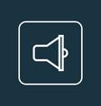 loudspeaker outline symbol premium quality vector image