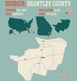 map in brantley county georgia vector image vector image