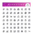 marketing line icons set vector image vector image