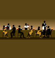 men and women rest in a nightclub near bar vector image vector image