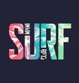 miami surf club graphic t-shirt design vector image vector image