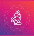 microscope line icon research lab symbol vector image
