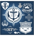 Military and naval forces badges design elements vector image vector image