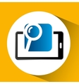 mobile phone icon searching social media vector image vector image