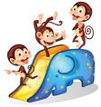 Monkeys and slide vector image vector image