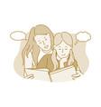 motherhood mother and daughter home activities vector image