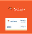 not seen logo design with business card template vector image