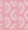 paisleys seamless pattern abstract pink floral vector image vector image