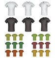 plain male polo shirt template set vector image vector image