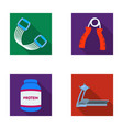 protein expander and other equipment for training vector image vector image