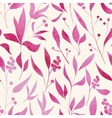 seamless pattern with hand drawn doodle flowers vector image vector image