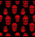 seamless pattern with mexican sugar skulls design vector image