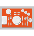 serving dishes and cutlery vector image