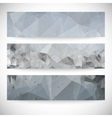 Set of abstract backgrounds molecule structure vector image