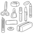 set stationery vector image vector image