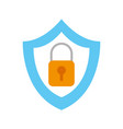 shield security with padlock vector image
