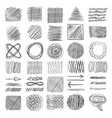 sketch textures grunge shading shapes draw lines vector image