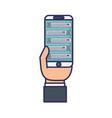 smartphone device icon vector image vector image