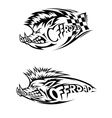 Snarling wild boar Off Road icon vector image vector image