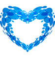 splash of water in the form of heart vector image vector image