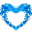 splash water in form heart vector image