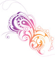 Swirly paisley vector image vector image