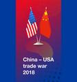 trade war between china and usa vector image