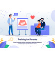 training for future parents flat banner vector image vector image