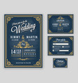 vintage luxurious wedding invitation on chalkboard vector image vector image