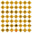 Warning Traffic Signs Set vector image vector image