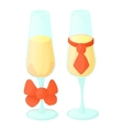 Wedding glasses icon cartoon style