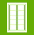 wooden latticed window icon green vector image vector image