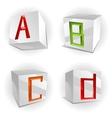 cube alphabet letters ABCD