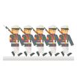 Flat design military parade vector image