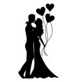 kissing young cup vector image