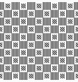 abstract geometric seamless pattern striped vector image vector image