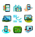 Augmented Reality Icons Set vector image vector image