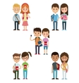 back to school collection couples students design vector image vector image