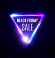 black friday background triangle logo design vector image vector image